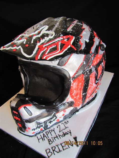 Dirt Bike Helmet Cake This Would Be Great For My