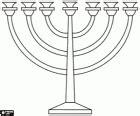 candelabro ebraico a nove braccia automobile generatore candelabro ebraico disegno menorah