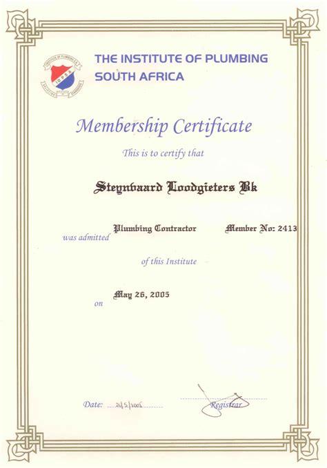 Diploma Of Plumbing by Steynvaard Plumbers Middelburg