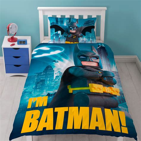 Batman Bedding by Official Lego Batman Single Duvet Cover Set