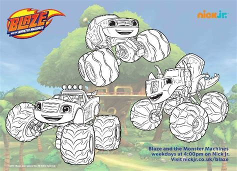 blaze coloring pages nick jr blaze and the monster machines colouring pages and twitter