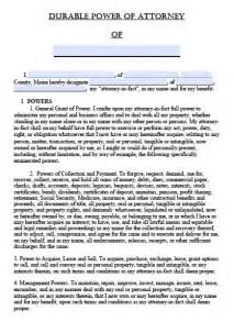 free printable durable power of attorney template durable power of attorney template free printable documents
