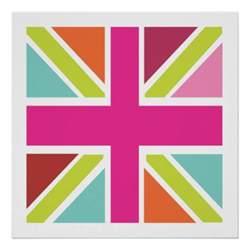 uk flag colors united kingdom multi color flag print zazzle