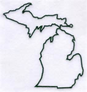 Outline Of Michigan State by Machine Embroidery Designs At Embroidery Library Embroidery Library