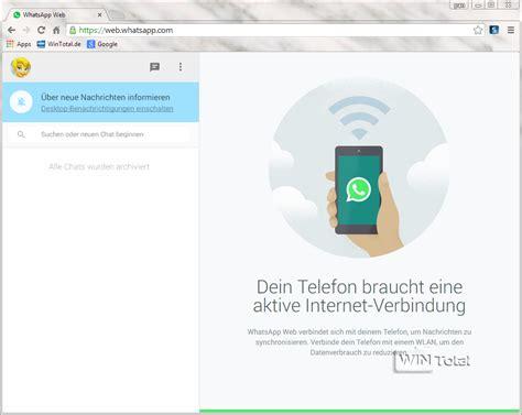 chrome whatsapp whatsapp web messenger 252 ber google chrome auf dem pc