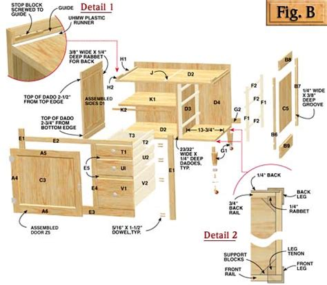 diy free plans for building kitchen cabinets plans free