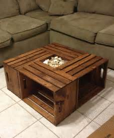 Diy Coffee Table Crates Diy Coffee Table Wine Crates Varnished House