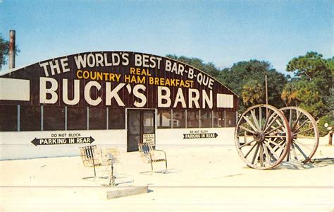 Bucks Plumbing Supply Ta Fl by Daytona Florida Bucks Barn View Vintage Postcard
