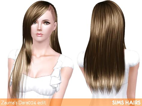 sims 4 half shaved side hair zauma s dara 024 half shaved hairstyle retextured by sims