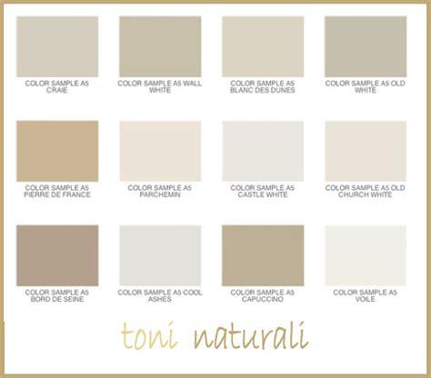 Colore Tortora Come Si Ottiene by Palette Di Colori Naturali Di Arredamento E Interni
