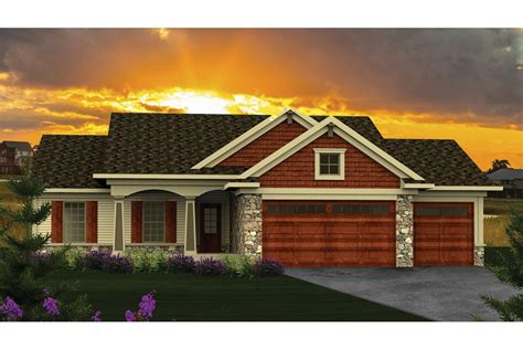 House Plans One Story With Basement home plan homepw76906 1351 square foot 3 bedroom 2
