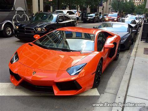 Lamborghini Chicago Lamborghini Aventador Spotted In Chicago Illinois On 07