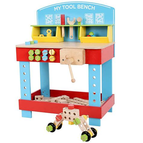 Tool Box Bench Wooden Toys wooden workbenches a wooden play workbench gives