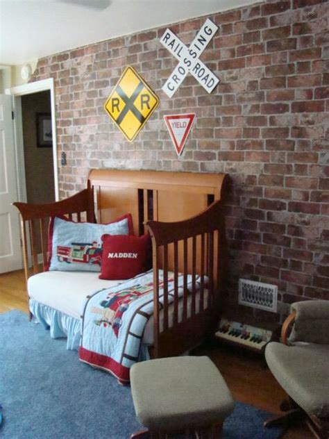 train bedroom decor 32 edgy brick walls ideas for kids rooms digsdigs