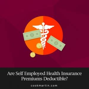 employed health insurance premiums deductible