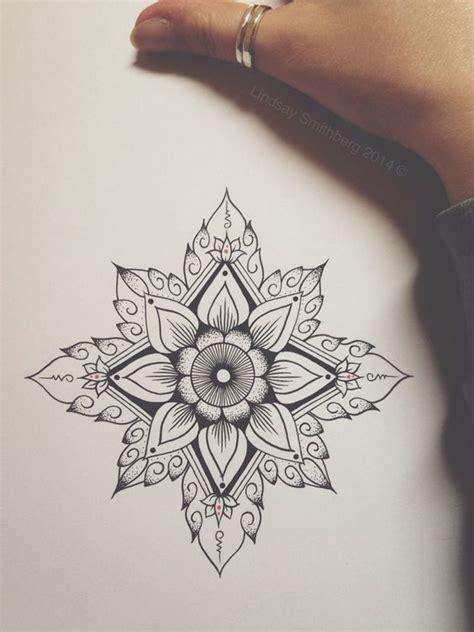 geometric tattoo prints geometric flower art tattoo iiink pinterest mandalas