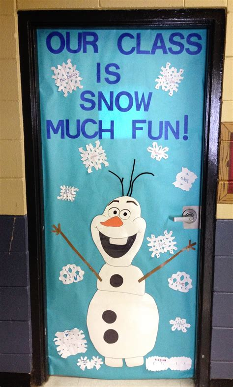 christmas themes classrooms olaf classroom door frozen themed door classroom