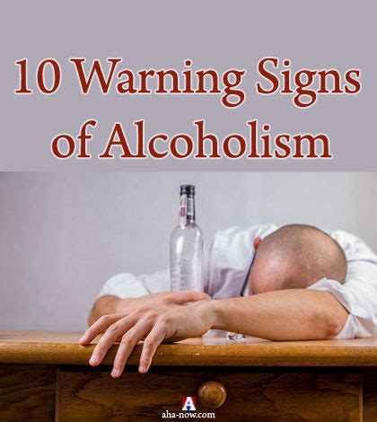 10 Warning Signs Of Alcoholism by Abuse Ten Warning Signs Of Alcoholism Aha Now