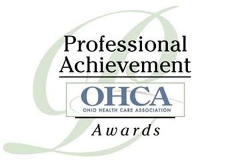 professional achievement awards ohca ohio health care association