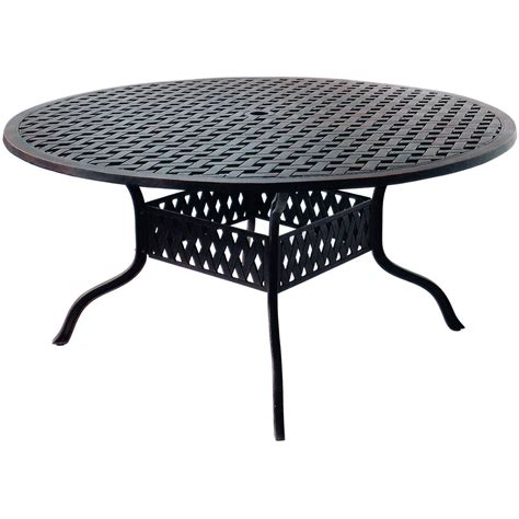 Aluminum Patio Dining Table Darlee Camino Real 7 Cast Aluminum Patio Dining Set With Table Ultimate Patio