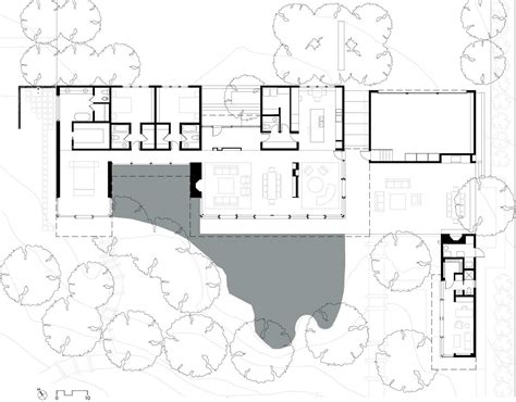 floor plan sustainable retreat by the pond in atherton