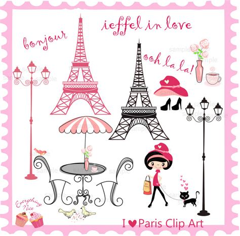 imagenes de i love you paris i love paris clip art set