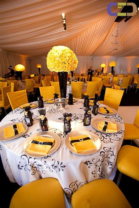 black white and orange wedding decorations