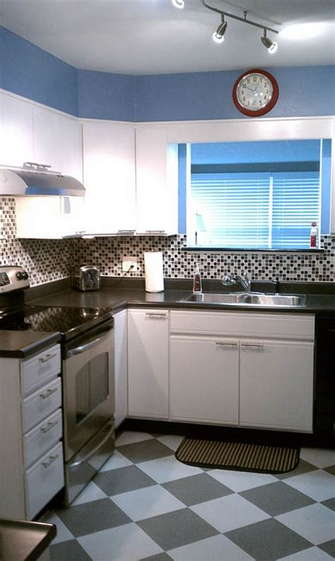 vintage modern kitchen susan transforms her 1980s kitchen for 600 retro renovation