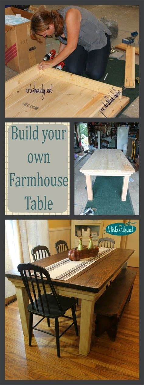 build your own table build your own dining table woodworking projects plans