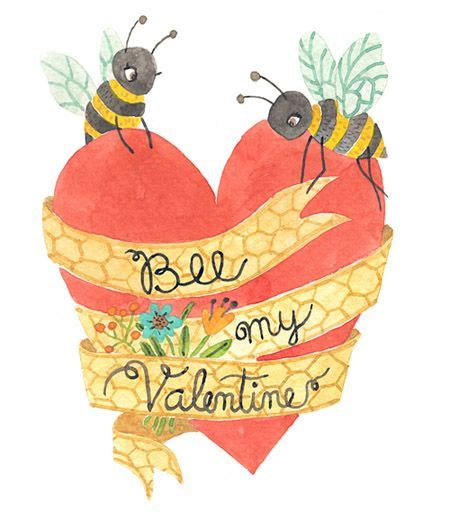 my two valentines bee my free printable card from