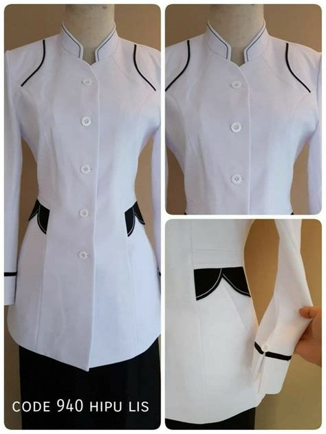 Blazer Bagus jual bagus baju atasan blazer seragam putih pns wanita