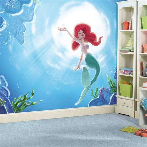 disney roommates wallpaper roommates 72 in x 126 in disney princess the little