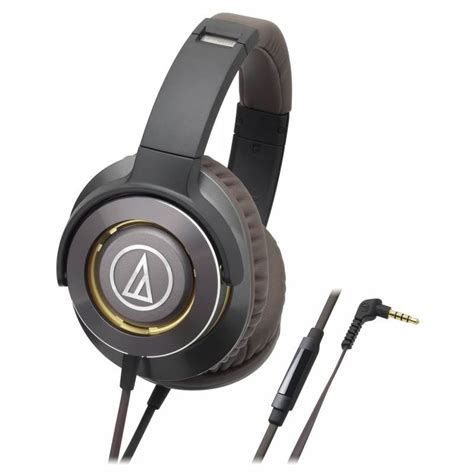 Audio Technica Ath Ws770is Gm Bass Headphones audio technica ath ws770is premium headphones smartphone gun metal ath ws770is gm
