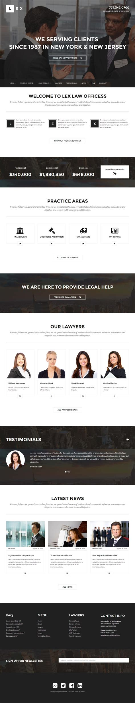 wordpress theme editor drag and drop lex is premium full responsive wordpress lawyers theme