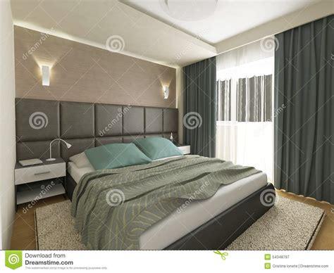 da letto elegante la da letto elegante 3d rende illustrazione di