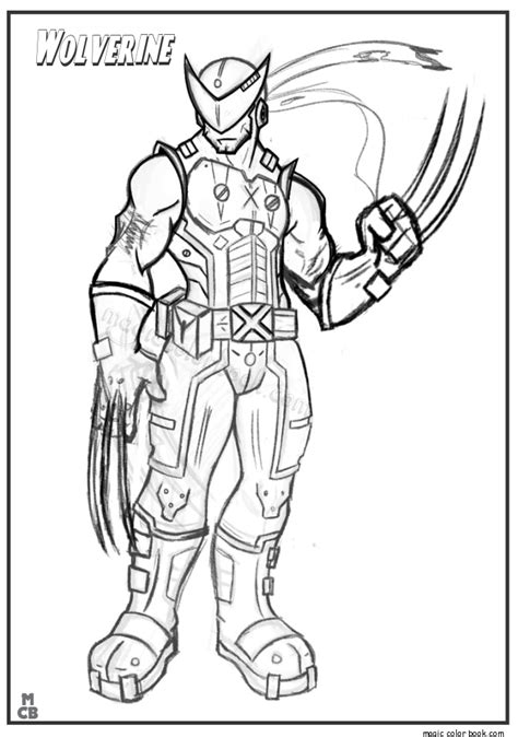 printable version of html page click to see printable version of wolverine coloring page