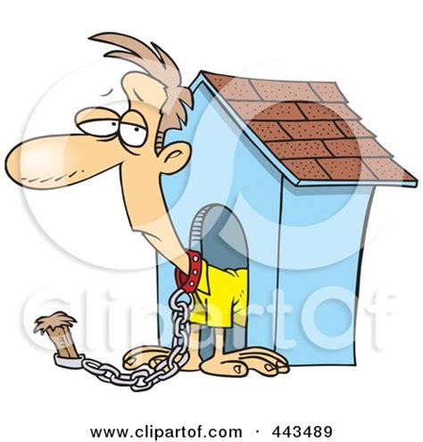 man in the dog house royalty free rf in the dog house clipart illustrations vector graphics 1