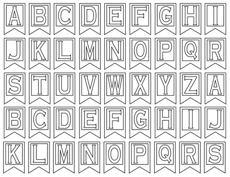 alphabet letter templates for banners 6 best images of printable banner letters free printable