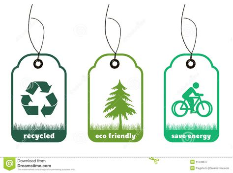 design and environment np ecology and recycle tags for environmental design stock