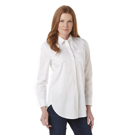 polyester button front blouse kmart