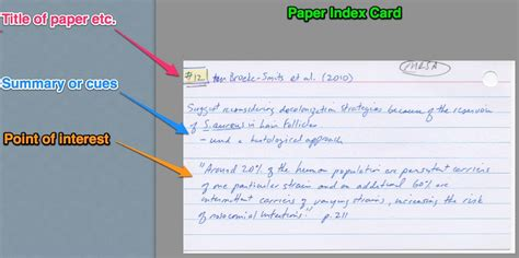 how to make index cards avoiding plagiarism u of r biology lab reports