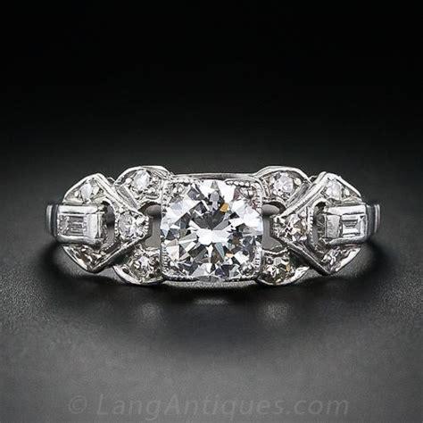 deco 76 carat engagement ring