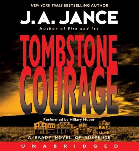 cover a brady hawk novel volume 2 books tombstone courage j a jance digital audiobook