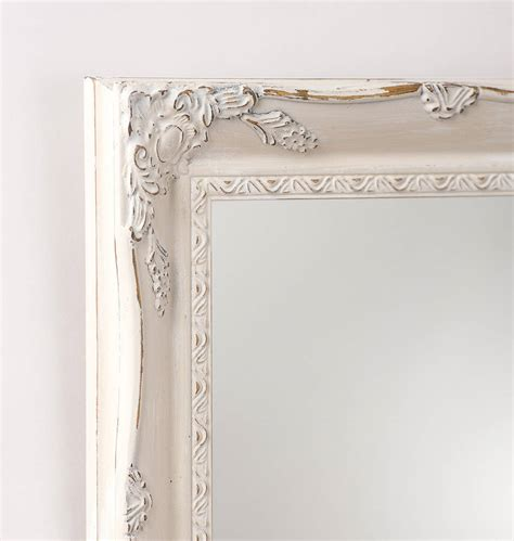 Handcrafted Mirrors - vintage white painted mirror by crafted