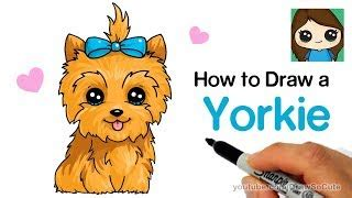 how to draw a yorkie step by step how to draw jojo siwa