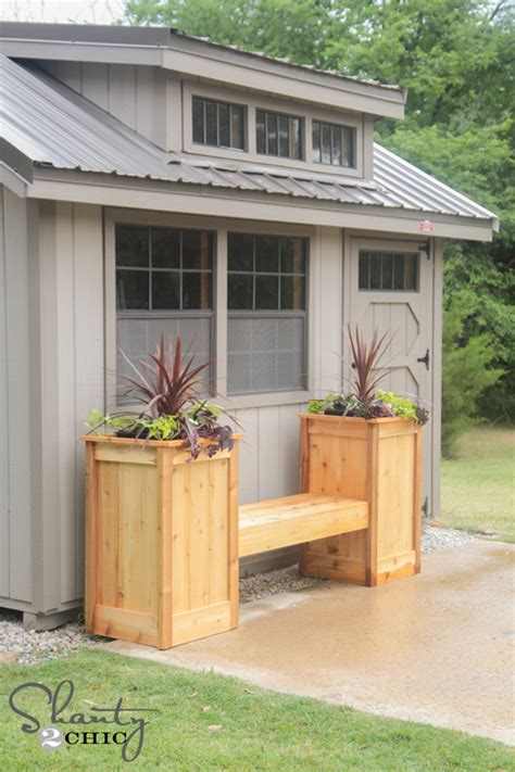 Planter Box In Front Of House by Diy Planter Box Bench Shanty 2 Chic