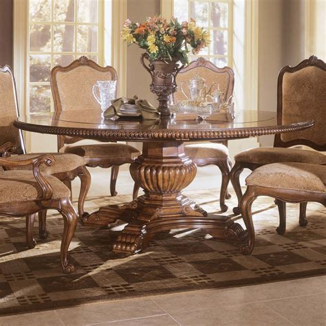 upholstered round table dining set villa cortina dining