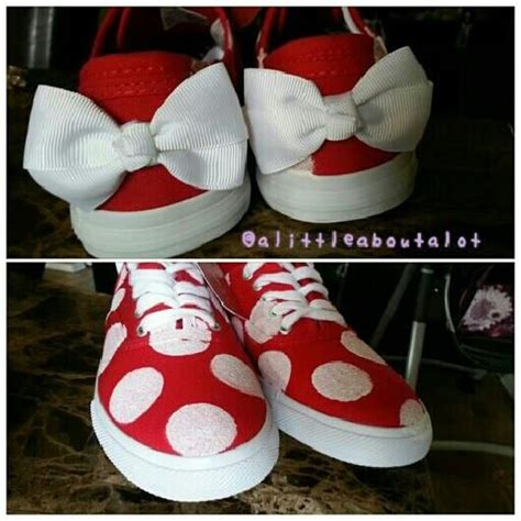 diy disney shoes alittleaboutalot diy minnie mouse sneakers mandy