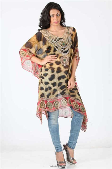 kurta pattern jeans digital print kaftan style kurta jeans eid selection