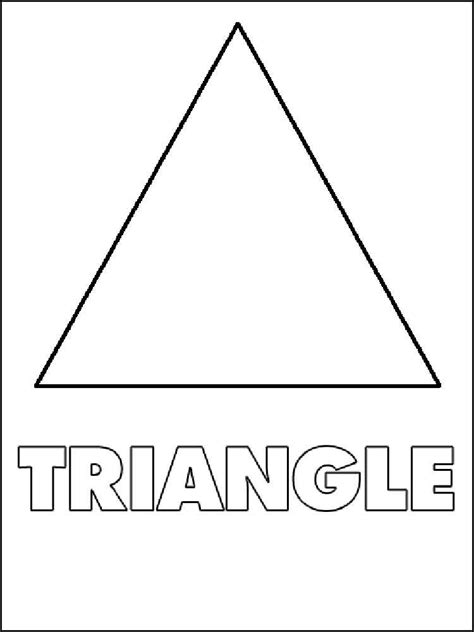 Triangles coloring pages. Free Printable Triangles